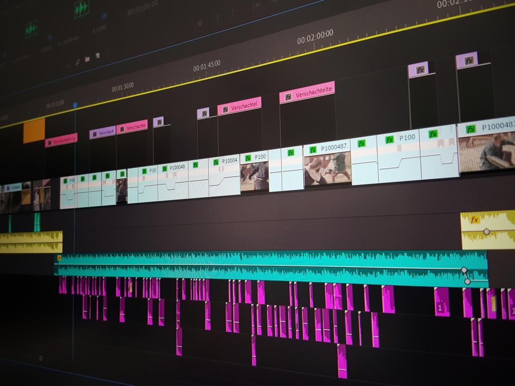 Schnitt Editing Timeline Postproduktion